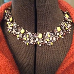 Yellow Iridescent Yellow & Gold Necklace